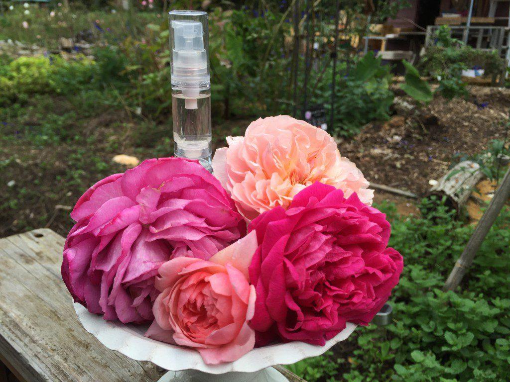 合成香料不使用 バラの香水作り体験