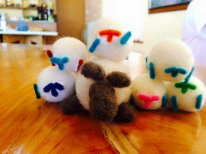 羊毛クラフト作り