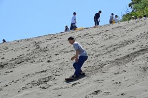 砂山滑り体験